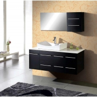 "54"" Modern Wall Mounted Single Bathroom Vanity Set  - Espresso AG-X011"