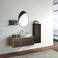 "39.25"" Modern Bathroom Vanity Set - Green Teak & Iron Wood"