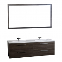 "67"" Modern Double Vanity Set Grey Oak TN-A1710-GO"