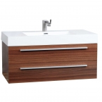 "39.25"" Wall-Mount Contemporary Bathroom Vanity Teak TN-T1000-TK"
