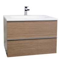 "29.5"" Wall-Mount Modern Bathroom Vanity Set Light Oak RS-R750-LOK"