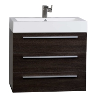 "Zamora 29.25"" Wall-Mounted Single Bathroom Vanity Set in Alamo Oak Optional Mirror RS-R750-AO"