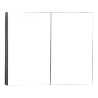 Medicine Cabinet w Mirror Grey Oak 31.5 in. W x 26 in. H TN-TB800-MC-GO