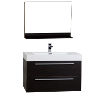 "35.5"" Wall-Mount Contemporary Bathroom Vanity Mirror Set Espresso TN-M900-WG"