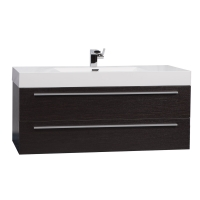 "47"" Wall-Mount Contemporary Bathroom Vanity Espresso Optional Mirror TN-T1200-1-WG"