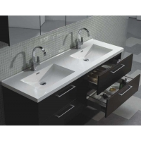 "Camino 59.5"" Modern Double Vanity Set Wall Mount Espresso  TN-A1510-WG"