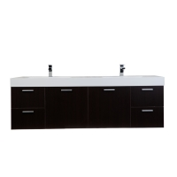 "Monza 71"" Contemporary  Double Vanity Set Espresso RS-DM1810-ESP"