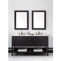 "Trento 60"" Solid Wood Double Bathroom Vanity  Dark Espresso VM-V19713-ESP"