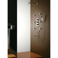 "Oceanus Quad Thermostatic Shower Valve with Divert with Fixed 8"" Shower Head, 6 Body Jets, Hand Shower and Tub Filler CL-JDL-8858400"