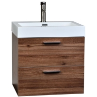 "22.75"" Single Bathroom Vanity Set in Light Teak, Discount Single Bathroom Vanity Set"