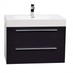 "31.25"" Wall-Mount Modern Bathroom Vanity in High Gloss Grey TN-M800-HGCG"