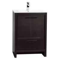 CBI Enna 23.5-inch Grey Oak Modern Bathroom Vanity TN-LA600-WG