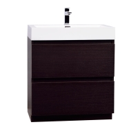 "29.5"" Contemporary Bathroom Vanity in Espresso Optional Mirror TN-LY750-WG"