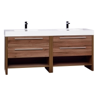 "Mula 71"" Contemporary  Double Vanity Set  in Walnut RS-LA1810-WN"