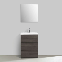 "Edison 23.6"" Single Bathroom Vanity Set in Grey OakTN-ED600-GO"