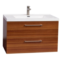 "33.5"" Wall-Mount Contemporary Bathroom Vanity Set in Walnut TN-TA860-TK"