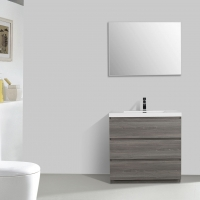"Edison 35.5"" Single Bathroom Vanity Set in Maple Grey TN-ED900-MG"