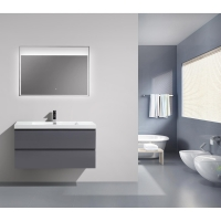 "Angela 41.9"" Wall-Mount Bathroom Vanity High Gloss White TN-AG1065-1-HGWAngela 41.9"" Wall-Mount Bathroom Vanity High Gloss Iron Grey TN-AG1065-1-HGIG"