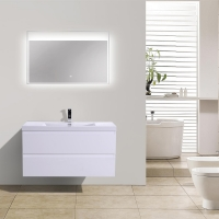 "Angela 41.9"" Wall-Mount Bathroom Vanity High Gloss White TN-AG1065-1-HGW"
