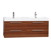 "54"" Modern Double-sink Vanity Set with Drawers - Teak TN-B1380-TK"