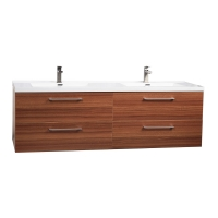 "Camino 67"" Modern Double Vanity Set Wall Mount in Teak TN-A1710-TK"