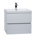 "Angela 23.5"" Wall-Mount Bathroom Vanity in High Gloss White TN-AG600-HGW"