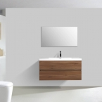 "Angela 41.9"" Wall-Mount Bathroom Vanity Walnut TN-AG1065-1-WN"