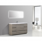 CBI Edison 59 Inch Single Modern Bathroom Vanity Maple Grey TN-ED1500S-MG