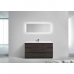 CBI Edison 59 Inch Single Modern Bathroom Vanity Char Oak TN-ED1500S-CO