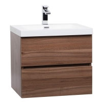 "Angela 23.5"" Wall-Mount Bathroom Vanity in Walnut TN-AG600-WN"