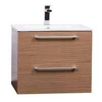 "Caen 24"" Wall-Mounted Single Bathroom Vanity Set in Light Oak Optional Mirror RS-DM600-LOK"