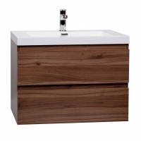 "Angela 29.5"" Wall-Mount Bathroom Vanity Walnut TN-AG750-1-WN"