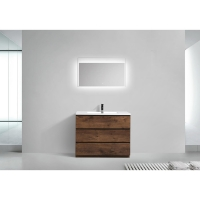 "Edison 41.9"" Single Bathroom Vanity Set in Rosewood TN-ED1065-RW"