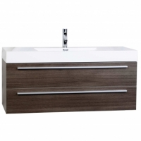 "47"" Wall-Mount Contemporary Bathroom Vanity Walnut Optional Mirror TN-T1200-1-GO"