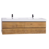 "Angela 71"" Contemporary Double Wall Mounted Natural Oak TN-AG1810-NO"
