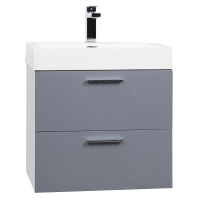 "22.75"" Single Bathroom Vanity Set High Gloss Grey TN-T580-HGIG"