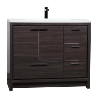 CBI 42 Inch Modern Bathroom Vanity Char Oak TN-LY1065-1-CO