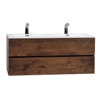 "Angela 47"" Wall-Mount Double Bathroom Vanity  Rosewood TN-AG1200D-RW"