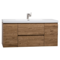 "47"" Angela Wall Mounted Modern Single Vanity Danish Teak TN-AG1200-DT"