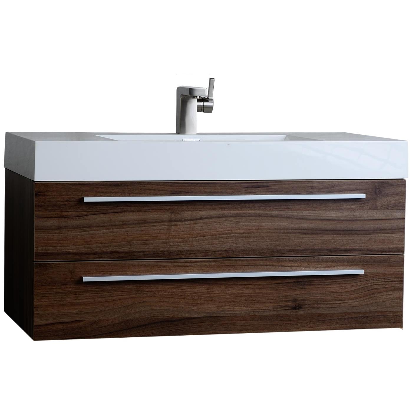 Buy 39 25 Inch Contemporary Bathroom Vanity Walnut Tn T1000 Wn On Conceptbaths Com