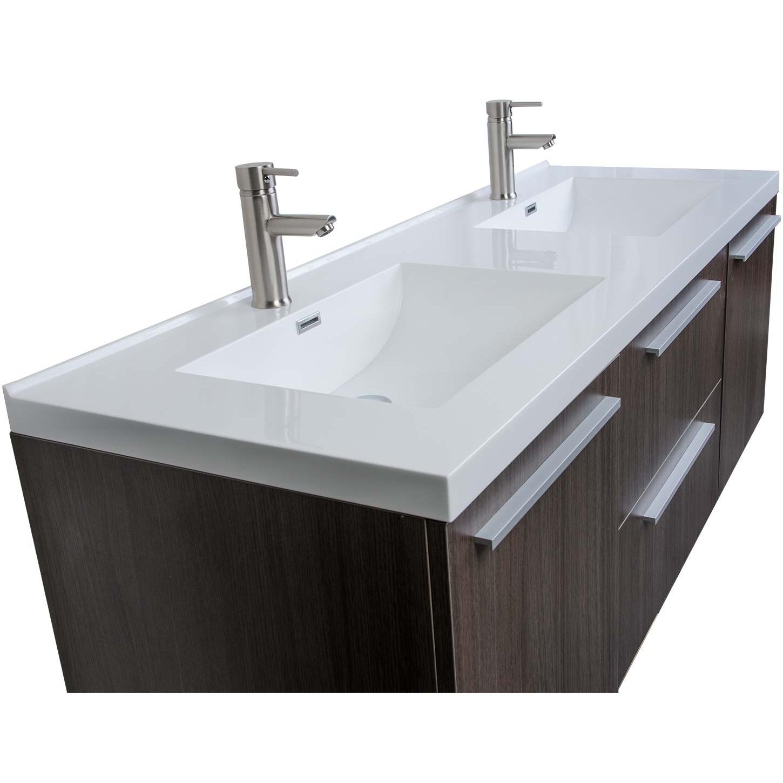 Buy 59 Inch Wall Mounted Modern Double Vanity In Grey Oak Tn Nt1500d Go Conceptbaths Com