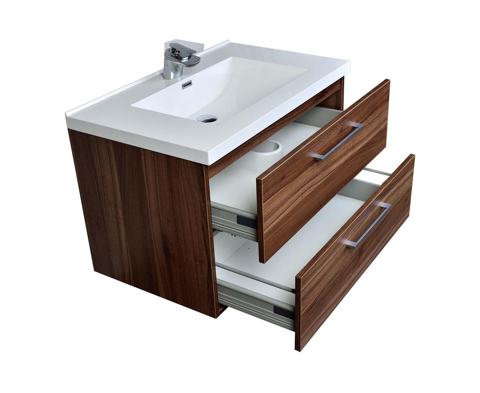 33 5 In Wall Mount Contemporary, Bathroom Vanity Set
