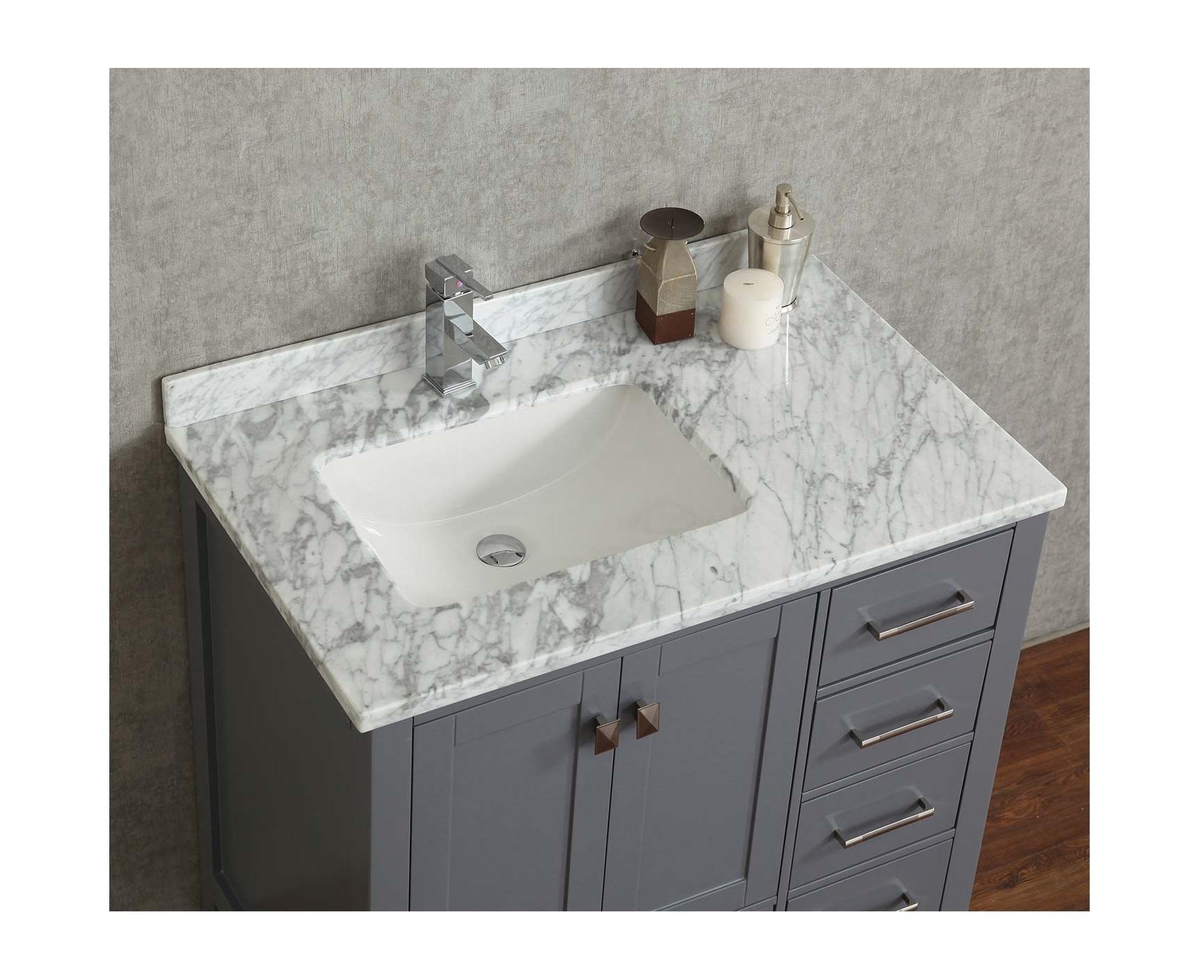 Buy Vincent 36 Inch Solid Wood Single Bathroom Vanity In Charcoal Grey Hm 13001 36 Wmsq Cg Conceptbaths Com