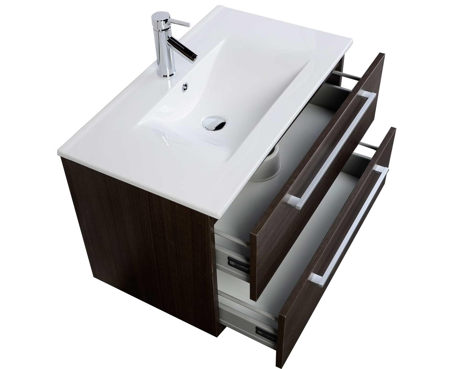 Buy 32 Inch Wall Mount Modern Bathroom Vanity Set Grey Oak Rs Dm800 Go On Conceptbaths Com Free Shipping