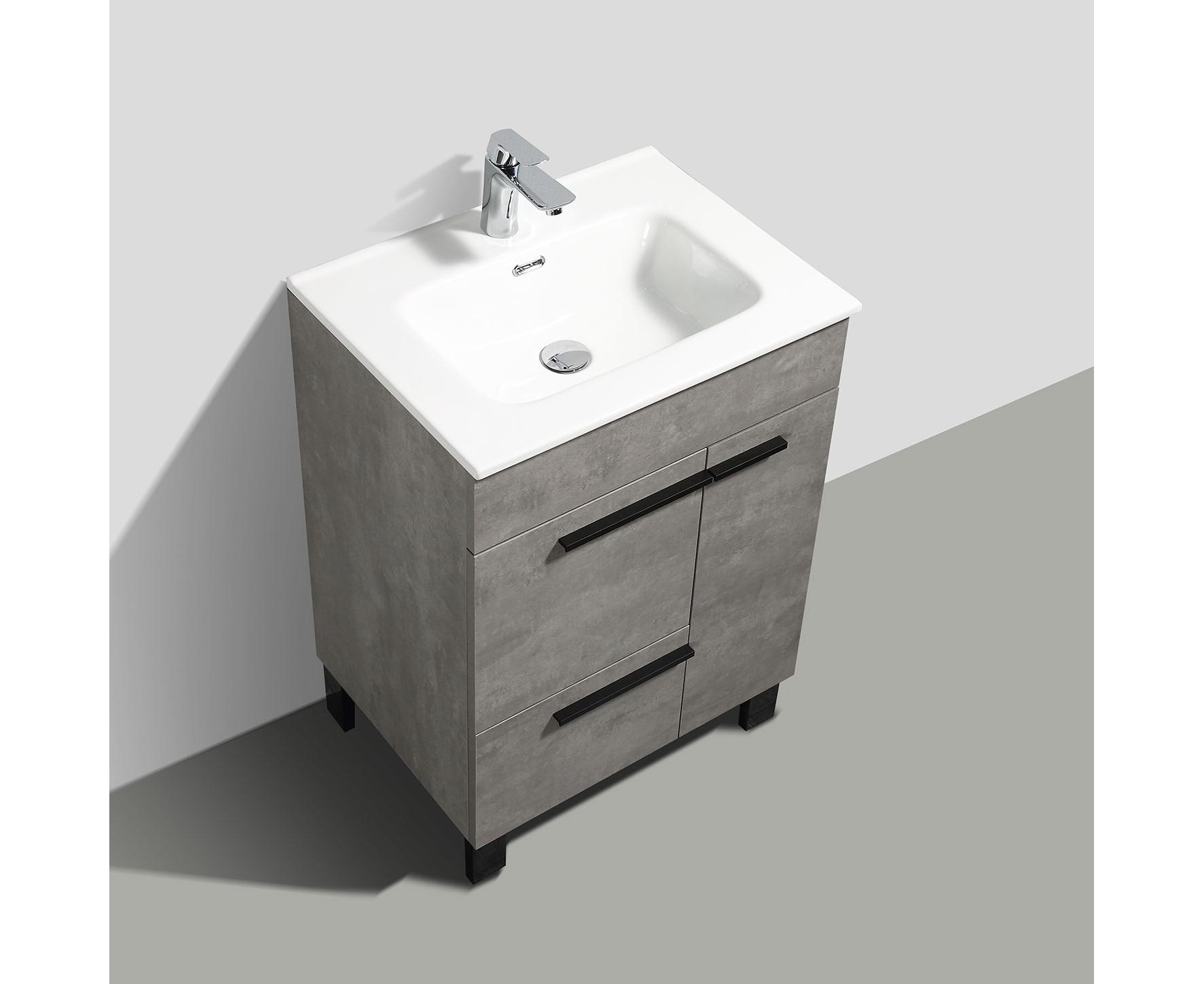 Buy Cbi Gili 28 Inch Grey Oak Modern Bathroom Vanity Ls Gl28 Cg On Concepbaths Com