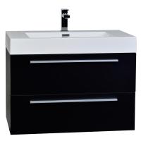 "31.5"" Wall-Mount Contemporary Bathroom Vanity Set Black TN-M800-BK"