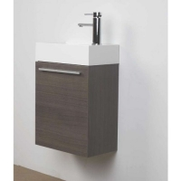 "18"" Bathroom Vanity Set  Grey Oak TN-T460-GO"