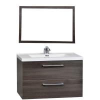"33.5"" Wall-Mount Contemporary Bathroom Vanity Set Grey OakTN-TA860-GO"