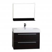 """31.5"""" Wall-Mount Contemporary Bathroom Vanity Mirror Set Espresso TN-M800-WG"""