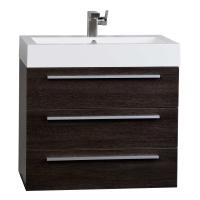 "Zamora 29.25"" Wall-Mounted Single Bathroom Vanity Set in Alamo Oak Optional Mirror RS-R750-AO"